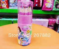 Wholesale Sets Princess Children Colored Pencil Cartoon Colors Pencil Stationery Set A2642
