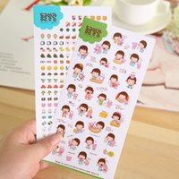 Wholesale C03 childhood years paste PVC sticker diary decorative stickers affixed six albums into