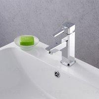 bathroom corner basins - Bathroom sink basin mixer tap chromed polished brass corner Faucet BF063