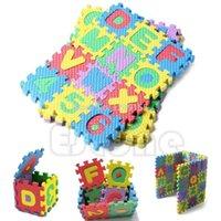 Wholesale 36Pcs Mini Size Puzzle Kid Educational Toy Alphabet A Z Letters Numeral Foam Mat