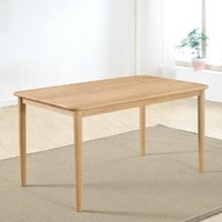 Wholesale Solid wood dining table Mediterranean style furniture without lacquer wax oak table