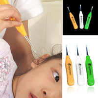 Wholesale Health Care Ear Care Brand New Creative LED Flashlight EarPick Ear Wax Remover Ear Cleaner Curette For Adults amp Children WTZ397