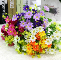 Wholesale small artificial Simulation flowers Mini Daisy Flower Wedding home decoration Bouquet Scrapbooking Christmas Decor decorative flower