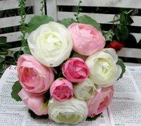 peony silk flower - Wedding Favors Wedding Bouquet Sweetheart Silk Flower Bride Holding Artificial Flowers Bouquet Artificial Peony Silk Flowers Weddings ZC