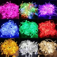ac dc pink - 100 LED M String Light Christmas Wedding Party Decoration Lights Lighting AC V V Waterproof Colors Christmas String Light
