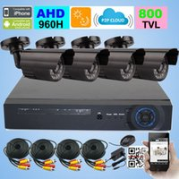 Wholesale 4CH CCTV System H AHD DVR TVL IR Waterproof Indoor Outdoor CCTV Camera Home Security System Surveillance Kits
