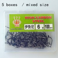 Cheap 500pcs barbed fishing hooks explosion spirally-wound pole carbon silver hook sabiki steel carp fish hook pack for fishing tackle