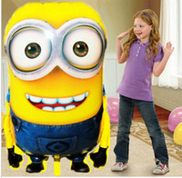 Wholesale 92 cm Big Size Minion Balloons fashion Despicable Me minion Toys Christmas Birthday Wedding Decoration Party inflatable air balloon