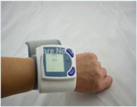 Wholesale 2pcs Digital LCD Wrist Cuff Blood Pressure Monitor Heart Beat Meter health monitors blood Pressure tonometer