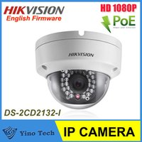 Wholesale HOT Hikvision DS CD2132 I MP Network Mini Dome Camera Full HD1080p real time video D DNR DWDR BLC IP66 PoE Vandal proof