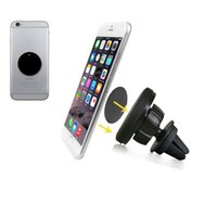 Wholesale Degrees magnetic car Phone holder for iphone4s s plus samsungs4 s5 s6 air vent Phone Mount Stand Holder for mobile phone