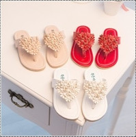 Wholesale new spring summer girls Childrens Princess party casual flower pearl sandals shoes EE