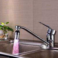 Wholesale New Colors Temperature Sensor Adjustable Swivel LED Tap Faucet Useful