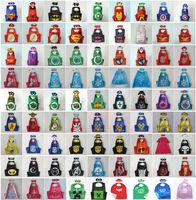 frozen costume - 98 styles Double Side Superhero Capes mask The Avenger Ninja Star Wars cape mask set My Little Pony Frozen Cinderella for Kids CM