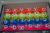 Wholesale cm rubber color changing light up bouncy ball with eye led flashing toy for children