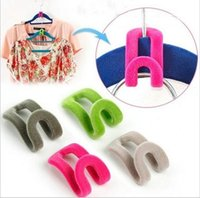 Wholesale Space Saver Wonder Magic Hanger Clothes Drying Rack hooks for chothes Mini Anti Clip Pp Hook Y30189