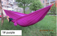 Wholesale 50pcs Outdoor or Indoor Parachute Cloth single Sleeping Hammock Camping Hammock high quality multicolor