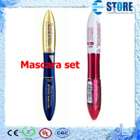cosmetic eyelash - Professional Makeup new Mascara long Eyelash curving lengthening double extension mascara Make up Cosmetic set wu