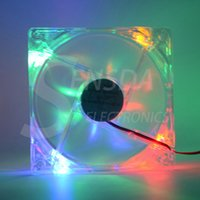 Yes amd pc cases - 120mm LED multi color V Pin x25mm Computer PC Host CPU Cooling Fan