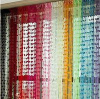 Wholesale Sheer Curtains Tassels - Free shipping Cute Heart Line Tassel String Door Curtain Window Room Divider Curtain Valance