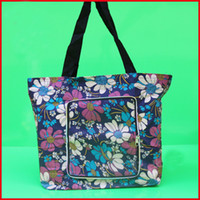 bag advertisment - 600D oxford folding shopping bag reusable zipper tote carrier bag advertisment promotion gift floral shopper bag