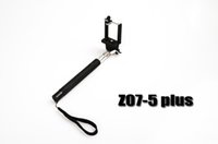 Wholesale 2014 New Moblie Phone Monopod Audio Cable Take Pole Selfie Stick Entendable Handheld Tripod For Iphone IOS Android Smart Phone