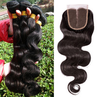 human hair extension - DHL Bundles Indian Malaysian Peruvian Brazilian Hair Weave with Middle Party Human Hair Closure A Human Hair Extension