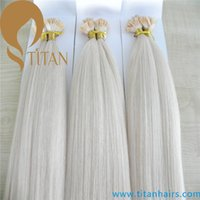 Cheap 4# flat tip hair extension Best silky straight titanhairs prebonded hair extension