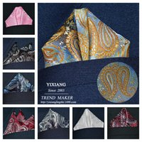Wholesale Assorted Mens Pocket Squares Hankies Hanky Handkerchief Large Size Accessory Neckties Ties Multi Color CM