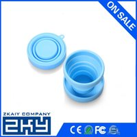 silicone cup lid - environmental silicone cup with lid folding collapsible silicone cup