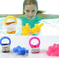 Wholesale New Underwater Nose Clip and Earplug Kit for Swimming Silicone Soft and Comfortable Ear plugs Nose clips set Water sports goods OPP bag