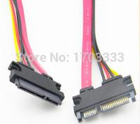 Wholesale 250pcs cm ft SATA extension cable SATA data cable power wire male to female line