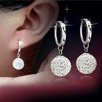 Wholesale 925 Sterling Silver Drop Earrings Long Section Earrings Korean Fashion Drop Earrings Shambala Jewelry Female Models S008