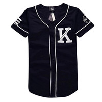 V-Neck baseball shirts designs - Mens baseball jerseys design black white patchwork t shirt KNYEW print short sleeve man shirts casual hip hop tops tee