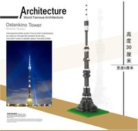 architecture model materials - Ostankino Tower Plastic Model Building Blocks Sets Educational Toys Architecture Model Material Bricks Toy