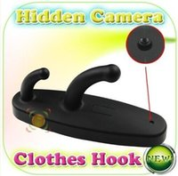 Wholesale New Arrival Min Spy Clothes Hook Camera Clothes Hanger HD Hidden Camera with Motion Detection High quality Mini Spy DVR Pinhole Cam