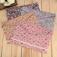 Wholesale Lovely Floral Polka Dot A4 Pouch Bag Document Paper Case Cute Korean Office School Filing Products