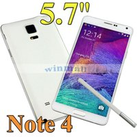 Wholesale HDC Note N910F N9100 MTK6582 quad core Cell Phone inch px screen Android GB RAM GB ROM Remote control Note4