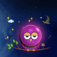 Wholesale DIY Owl Wallpaper Lamp Light Control Wall Stickers LED Night Light Bedroom Decoration for Baby s Room