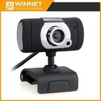 Wholesale USB Webcam Web Cam Camera MIC CD for Desktop PC Laptop Black