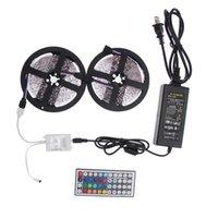 Wholesale New Sannysis rgb led fita led led strip M RGB leds SMD LED Strip Light Kit key IR V A Power Supply