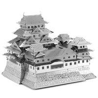 Wholesale HIME JI CASTIE d model of miniature DIY metal nanometer metal three dimensional jigsaw puzzle silver