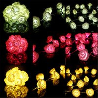 Wholesale 2pcs LEDs M Rose Flower Battery Operated String Fairy Chrismas Light Wedding Birthday Party Bedroom DIY Decor Lamp LEG_024