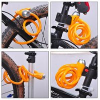 Wholesale Green Bike Bicycle Key Security Lock Steel Wire Chain mm mm with Bracket Brand New Good Quality