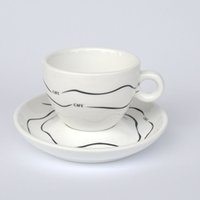 aqua coffee - C boeng wave pattern Aqua exquisite ceramic mug cup coffee cup cup ML impression