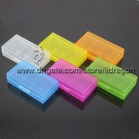 Wholesale Free DHL Battery box battery storage case plastic battery storage container pack or for ecig mechanical mod battery