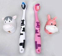 Wholesale 2 years old cartoon cows Rabbit Children s child toothbrush kid toothbrush for little boy girl tooth brush toddler teethbrush