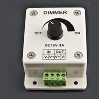 12V amp controller - 12V A Dimmer Switch Adjustable Brightness Volt Amp Dimming Controller for LED Lights Strip or Ribbon