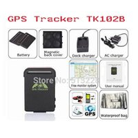 Wholesale GPS Tracker TK102 Vehicle GSM GPRS GPS Tracking Locator Device Mini QUAD band real time gps tracker for car google link on map