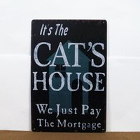 antique mortgage - Metal Tin Signs Mortgage Cat House Letter Wall Garage Decor x30cm x12inch Shop Pub Craft House Street Parlor Cafe Homewares